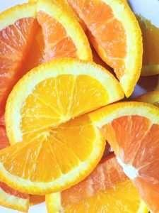 orange slices of vitamin c
